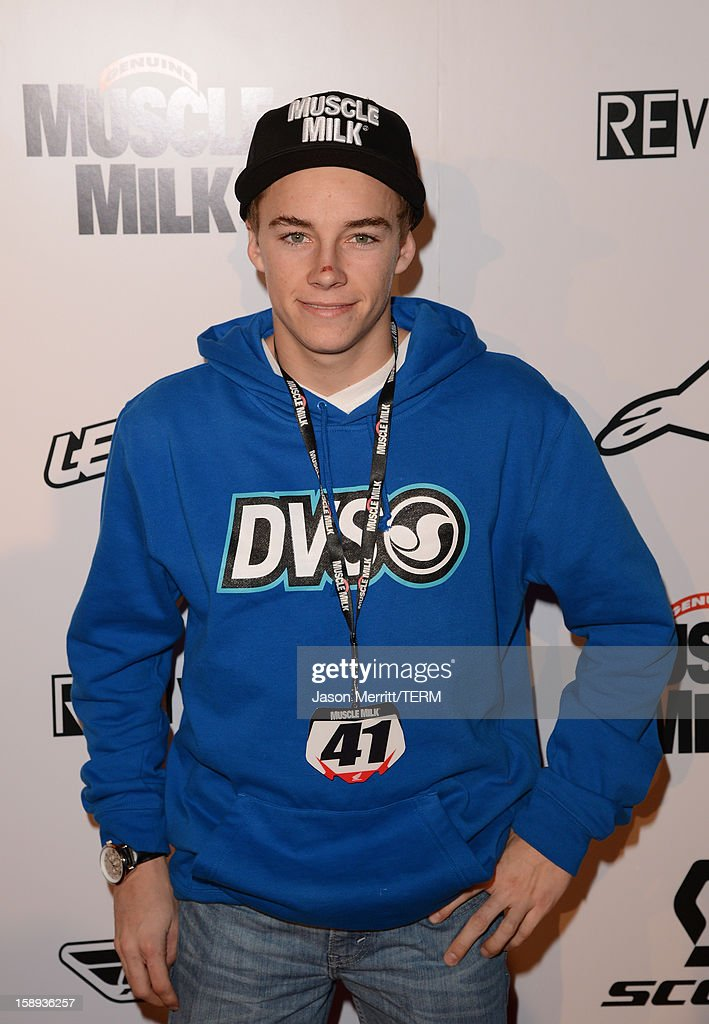 Supercross rider Zach Bell attends the Trey Canard 'REvival 41' premiere held at UltraLuxe Cinemas at Anaheim GardenWalk on January 3, 2013 in Anaheim, California.