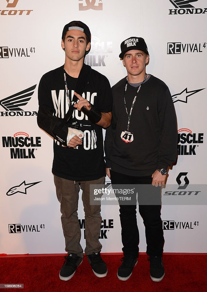 Supercross riders Justin Bogle and Wil Hahn attend the Trey Canard 'REvival 41' premiere held at UltraLuxe Cinemas at Anaheim GardenWalk on January 3, 2013 in Anaheim, California.