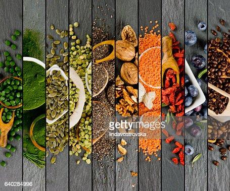 Superfood Mix Stripes : Stock Photo