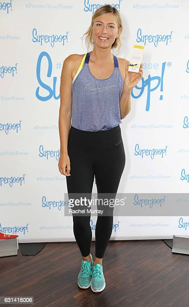 Supergoop coowner Maria Sharapova attends the Supergoop #ProtectYourPosse event with Maria Sharapova on January 10 2017 in Los Angeles California