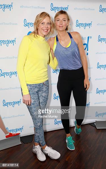 Supergoop founder Holly Thaggard and Supergoop coowner Maria Sharapova attend the Supergoop #ProtectYourPosse event with Maria Sharapova on January...