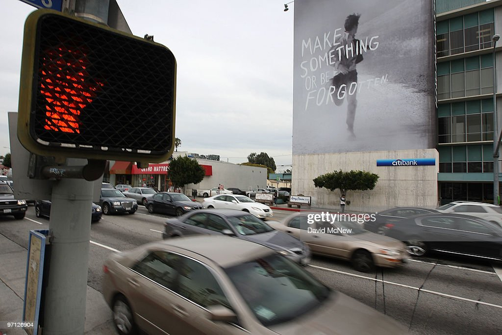 A supergraphic billboard along Pico Boulevard is among those at 12 locations that are at the center of a nuisance abatement lawsuit by the city in a long-running struggle to enforce outdoor advertising laws on February 26, 2010 in Los Angeles, California. Los Angeles City Attorney Carmen Trutanich is accusing 27 businesses and individuals of erecting illegal building-sized vinyl or plastic ads throughout the city. Trutanich will seek fines of up to $5,000 a day for each day for illegal supergraphic on buildings and for those freeways he will also ask for $10,000 plus $100 for each day an unpermitted sign is up. One of the defendants, World Wide Rush, is fighting the city ban against supergraphics and has a separate billboard case pending before the 9th Circuit Court of Appeals.