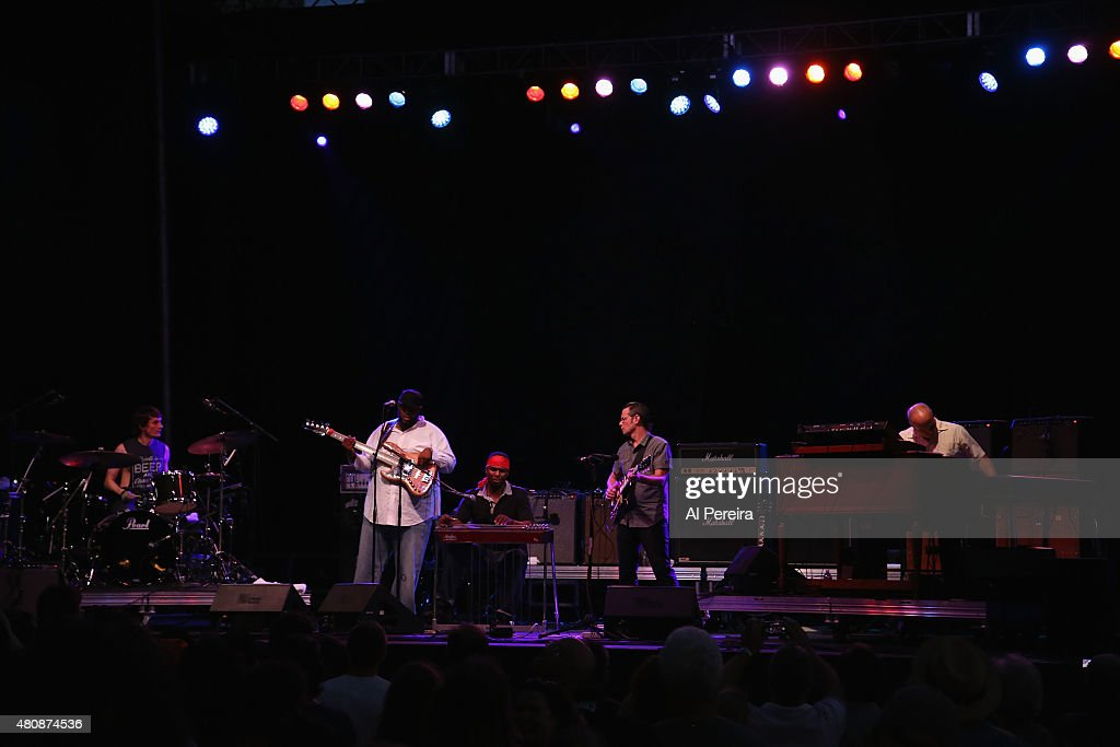 Supergroup The Word performs at the Lowdown Hudson Music Festival Day Two at Brookfield Place on July 15 2015 in New York City