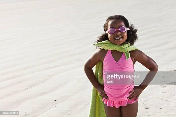 Super-herói na praia