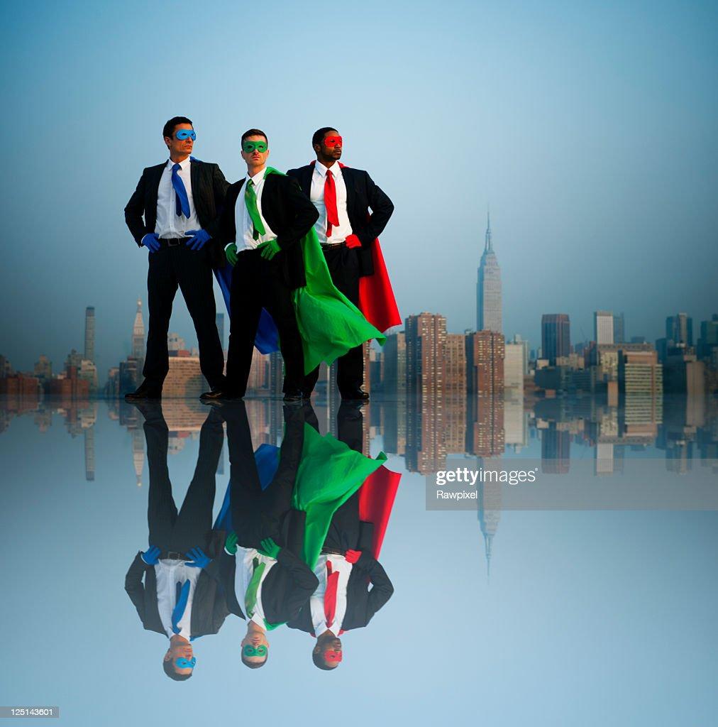 Superhero Businessmen : Stock Photo