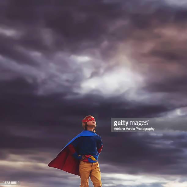 Superhero in the storm