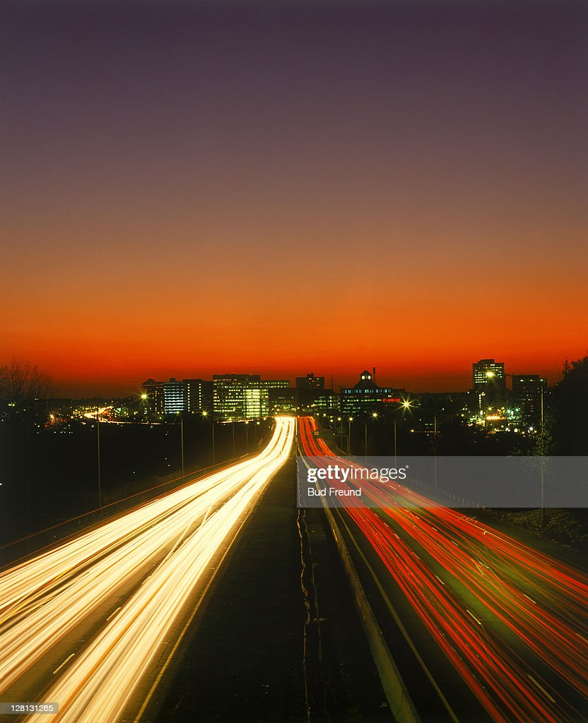 Superhighway at night, Stamford, CT