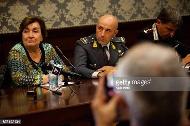 Superintended of Napes Antonio De Lesu Finance Guard Commander Gianluigi D'Alfonso Commander of the Carabinieri of Naples Ubaldo Del Monaco Prefect...