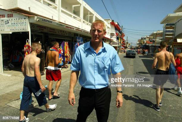Superintendent Andy Rhodes walks around Faliraki Greece The British Police officer met with Greek authorities on the holiday island of Rhodes to...
