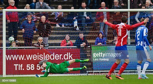 Superliga FC Vestsjælland vs Esbjerg 10 for C Vestsjælland by Morten Bertolt FC Vestsjælland Keeper Frederik Rønnow Esbjerg © Lars Rønbøg...