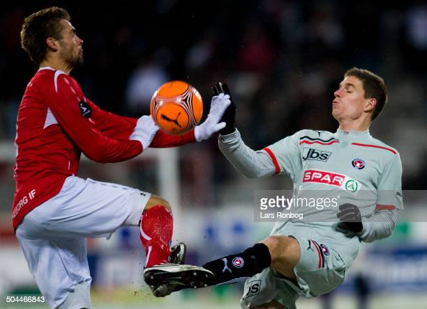 Superliga Jonas Borring FCM FC Midtjylland Jim Larsen Silkeborg IF SIF © Lars Rønbøg / Frontzonesport