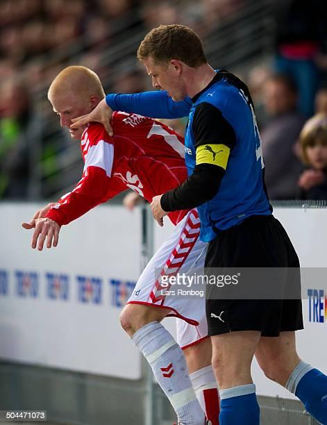Superliga Thomas G Christensen HB Køge hitting Thomas Mikkelsen VB Vejle Boldklub Lars Rønbøg / Viasatdivisionen