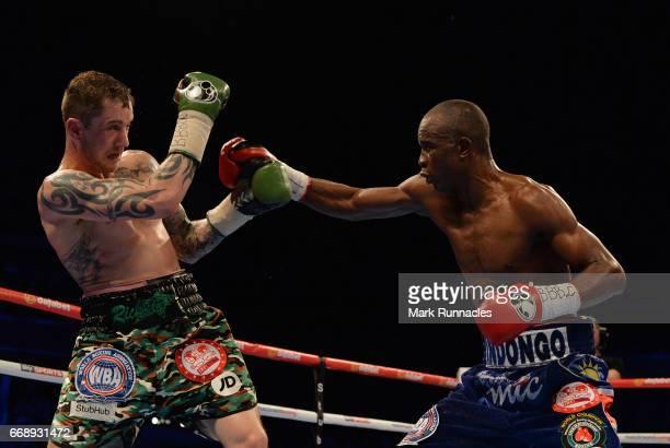 SuperLightweight World Champion Ricky Burn takes on IBF/IBO SuperLightweight World Champion Julius Indongo during the World SuperLightweight...
