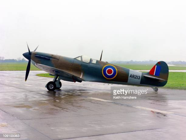 Supermarine Spitfire Mk1a AR213 at Abingdon 30th November 1967 It was used in the film 'Battle Of Britain' a 1969 production recreating the World War...