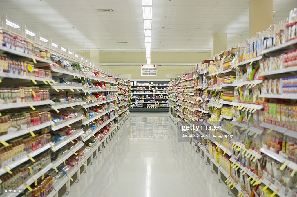 Supermarket Aisle : Stock Photo