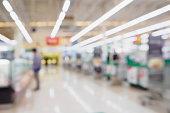 supermarket checkout cashier counter blurred background