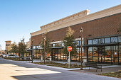 Supermarket in suburban area in USA
