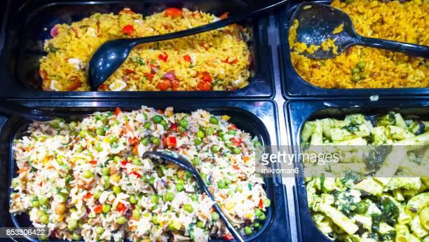 Supermarket salad bar