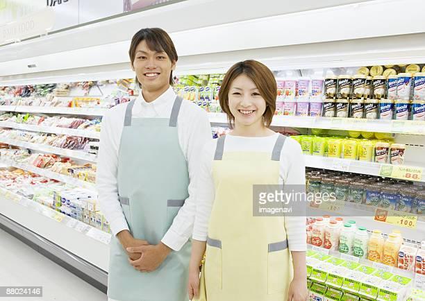 Supermarket store clerks