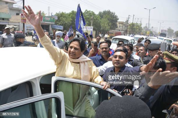 Supermo Mayawati in attempt to regain lost political ground on way to Shaharanpur following recent clash involving dalits and upper caste at Murad...