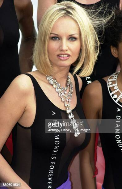 Supermodel Adriana Karembeu models a piece from the $25million 'A Diamond Is Forever' Collection during the Cannes Film Festival in France The 2000...