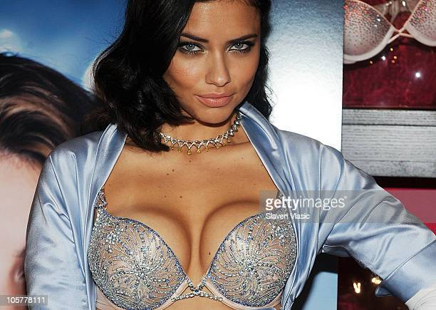 Supermodel Adriana Lima reveals the $2 million bombshell fantasy bra designed by Damiani exclusively for Victoria's Secret at Victoria's Secret SoHo...