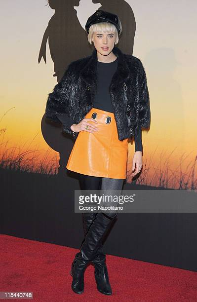 Supermodel Agyness Deyn attends the MoMa Film Benefit Gala Honoring Baz Luhrmann at the Museum of Modern Art on November 10 2008 in New York City