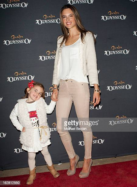 Supermodel Alessandra Ambrosio and daughter Anja Mazur attend Celebrity Red Carpet Opening For Cavalia's 'Odysseo' at Cavalia's Odysseo Village on...