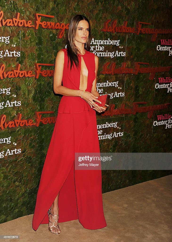 Supermodel <a gi-track='captionPersonalityLinkClicked' href=/galleries/search?phrase=Alessandra+Ambrosio&family=editorial&specificpeople=203062 ng-click='$event.stopPropagation()'>Alessandra Ambrosio</a> arrives at the Wallis Annenberg Center For The Performing Arts Inaugural Gala at Wallis Annenberg Center for the Performing Arts on October 17, 2013 in Beverly Hills, California.