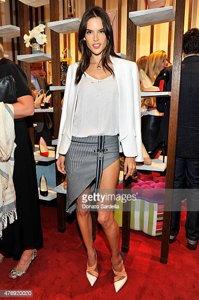 Supermodel Alessandra Ambrosio attends a celebration honoring Christian Louboutin and his new boutique hosted by James Rosenfield at The Brentwood...
