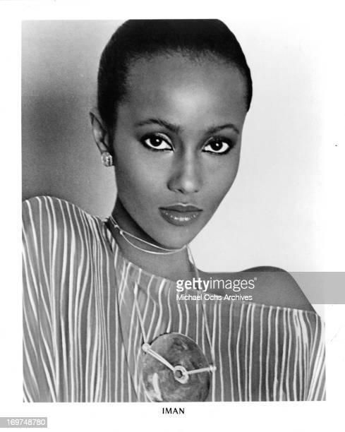 Supermodel and actress Iman poses for a portrait in circa 1979