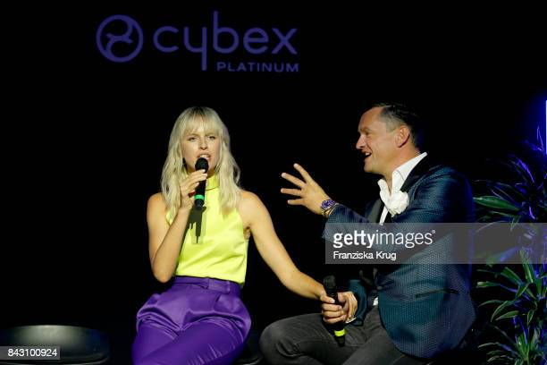 Supermodel and actress Karolina Kurkova and Martin Pos during the Cybex Fashion Cocktail on September 5 2017 in Berlin Germany