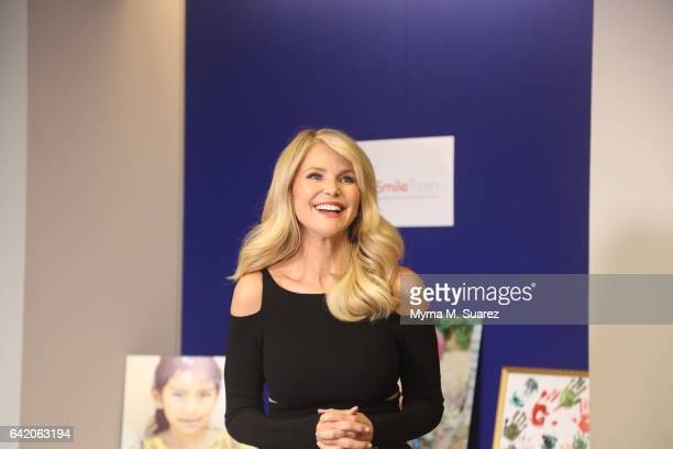 Supermodel and Smile Train Goodwill Ambassador Christie Brinkley visits the Smile Train Headquarters to present a check on behalf of her Christie...