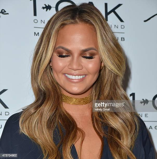 Supermodel Chrissy Teigen eye makeup detail arrives at 1 OAK Nightclub at The Mirage Hotel Casino for a special PreBillboard Music Award celebration...