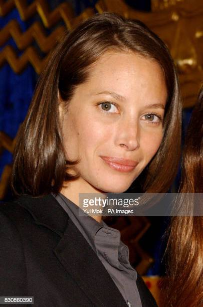 Supermodel Christy Turlington one of the cofounders of the Sundari skin care range of cosmetics during a personal appearance in Selfridges London