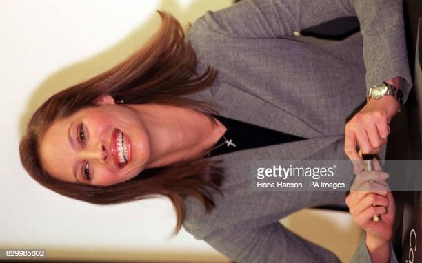 Supermodel Christy Turlington poses for the media today in London 's Selfridges store where she was on hand to promote Calvin Klein Underwear Photo...
