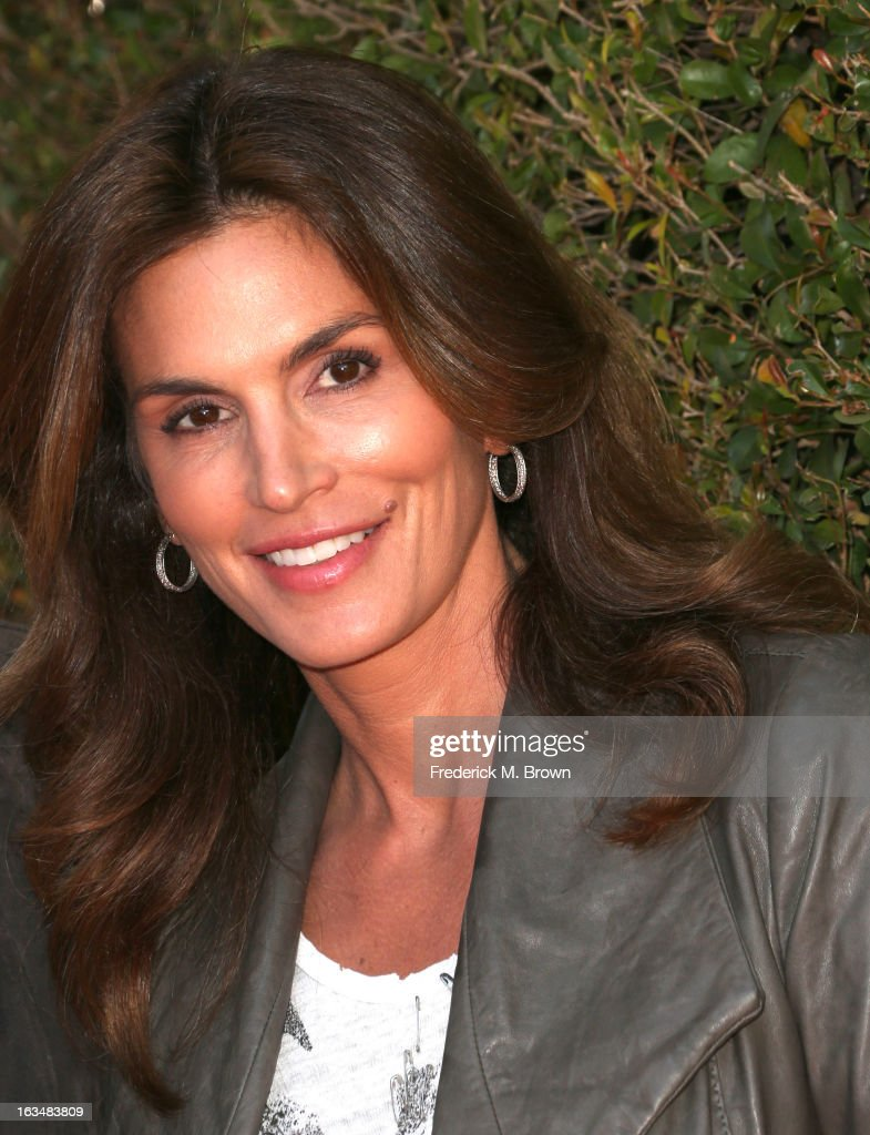 Supermodel Cindy Crawford attends John Varvatos 10th Annual Stuart House Benefit Presented by Chrysler, at John Varvatos Los Angeles on March 10, 2013 in Los Angeles, California.