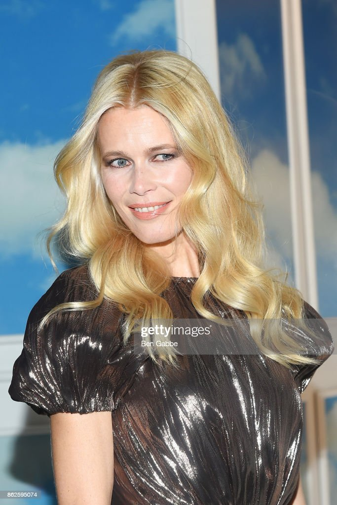 Supermodel Claudia Schiffer attends the Claudia Schiffer For Aquazzura Launch at Saks Fifth Avenue on October 17, 2017 in New York City.