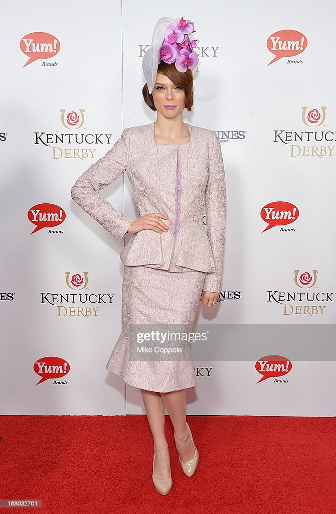 Supermodel Coco Rocha celebrates the 139th Kentucky Derby with Moet & Chandon at Churchill Downs on May 4, 2013 in Louisville, Kentucky.