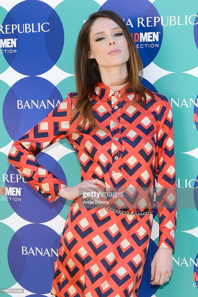 Supermodel <a gi-track='captionPersonalityLinkClicked' href=/galleries/search?phrase=Coco+Rocha&family=editorial&specificpeople=4172514 ng-click='$event.stopPropagation()'>Coco Rocha</a> hosts the Banana Republic Mad Men Spring 2013 Mod Pod at Banana Republic at The Grove on February 26, 2013 in Los Angeles, California.
