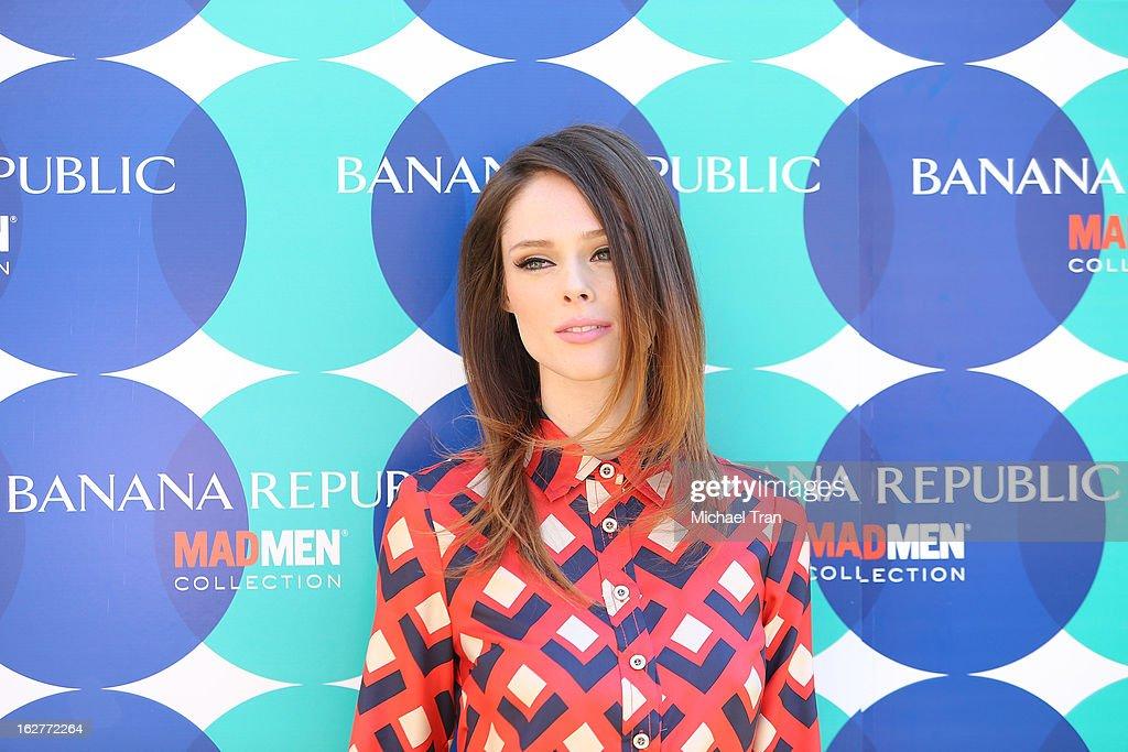 Supermodel Coco Rocha kicks-off the Banana Republic Mod Pod held at Banana Republic at The Grove on February 26, 2013 in Los Angeles, California.
