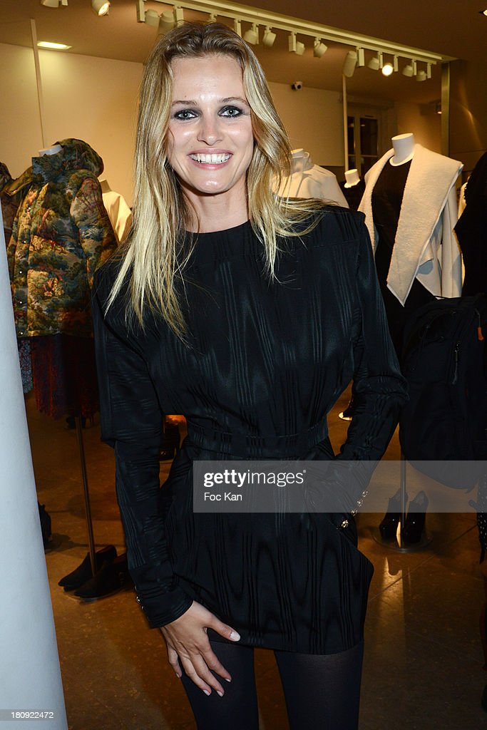 Supermodel Edita Vilkeviciute from Viva Agency attends the Colette Shop Cocktail during the Vogue Fashion Night Out on Rue Saint Honore on September 17, 2013 in Paris, France.
