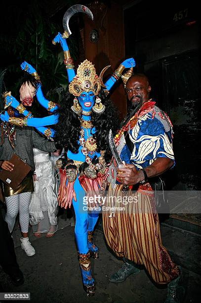 Supermodel Heidi Klum and singer Seal arrive at Heidi Klum's 2008 annual Halloween party at 1OAK on October 31 2008 in New York City