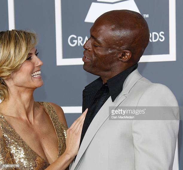 Supermodel Heidi Klum and singer Seal attend The 53rd Annual GRAMMY Awards at Staples Center on February 13 2011 in Los Angeles California