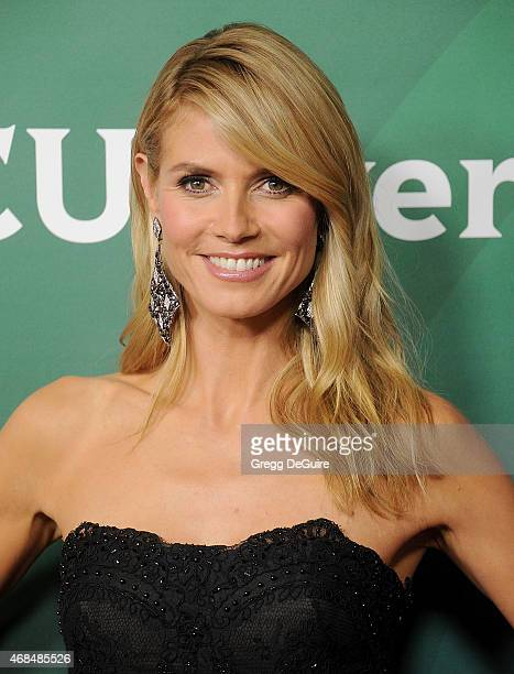 Supermodel Heidi Klum arrives at the 2015 NBCUniversal Summer Press Day at The Langham Huntington Hotel and Spa on April 2 2015 in Pasadena California