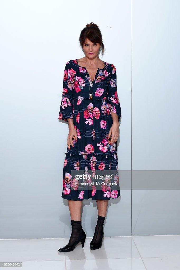 Supermodel Helena Christensen attends the Summer 17 Salon Show hosted by Debenhams at Debenhams on March 20, 2017 in London, United Kingdom.