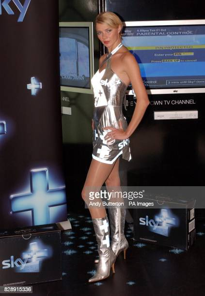 Supermodel Jodie Kidd launches the exlusive Sky concession at Selfridges Oxford Street central London where she demonstrated Sky's new digital TV...
