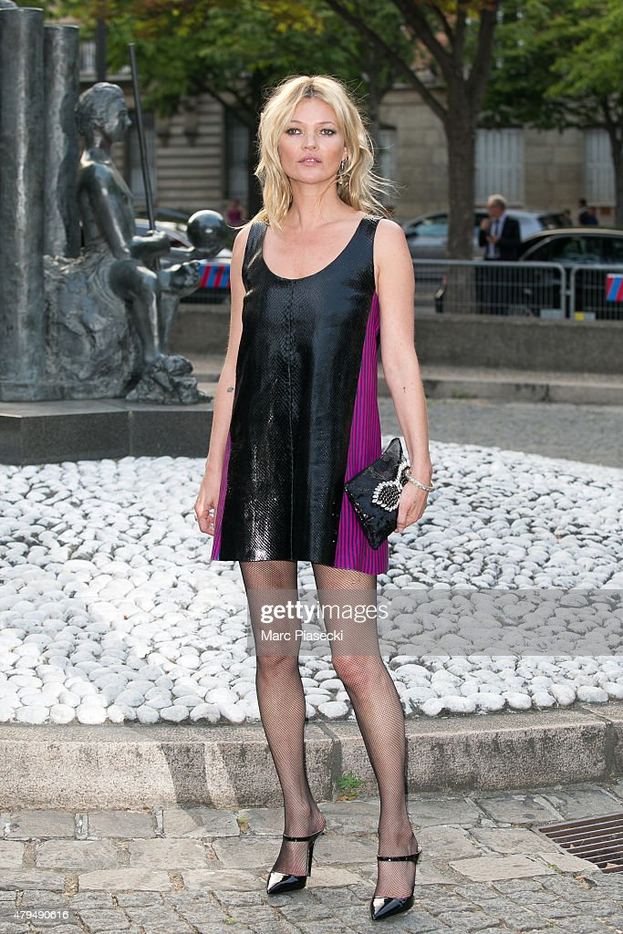 Supermodel <a gi-track='captionPersonalityLinkClicked' href=/galleries/search?phrase=Kate+Moss&family=editorial&specificpeople=201830 ng-click='$event.stopPropagation()'>Kate Moss</a> attends the Miu Miu Club launch of the first Miu Miu fragrance and croisiere 2016 collection at Palais d'Iena on July 4, 2015 in Paris, France.