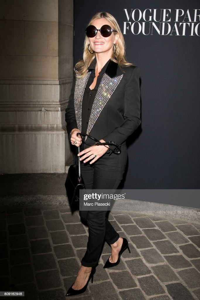 Supermodel Kate Moss attends Vogue Foundation Dinner during Paris Fashion Week as part of Haute Couture Fall/Winter 2017-2018 at Musee Galliera on July 4, 2017 in Paris, France.