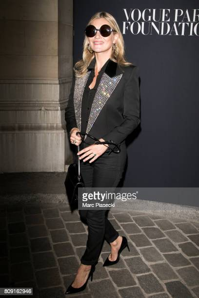 Supermodel Kate Moss attends Vogue Foundation Dinner during Paris Fashion Week as part of Haute Couture Fall/Winter 20172018 at Musee Galliera on...